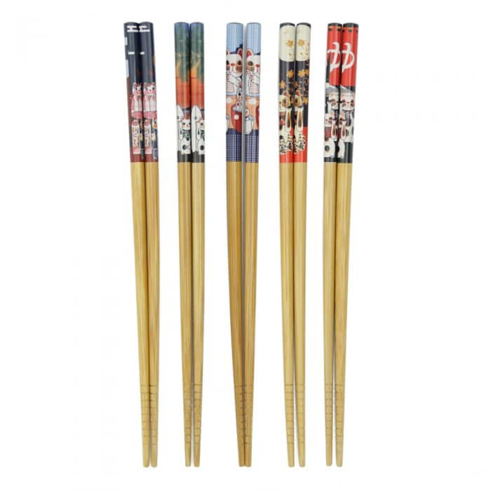 japanese-cat-print-chopstick-set-1