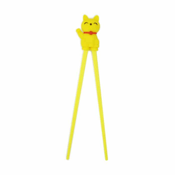 children's-cat-chopstick-yellow