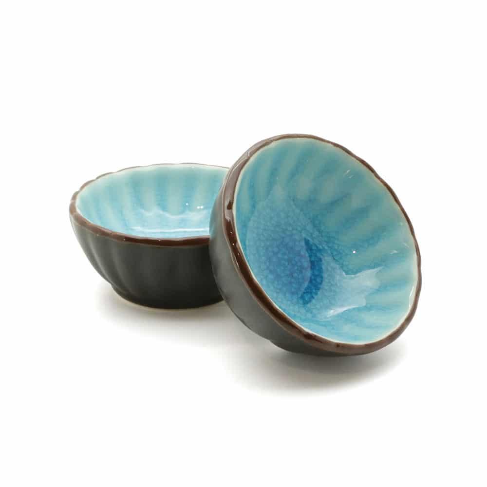 Blue Ceramic Soy Sauce Dish Empire Chopsticks