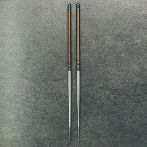 tiStix-polished-satin-w-navy-ends-royal-titanium-chopsticks-1