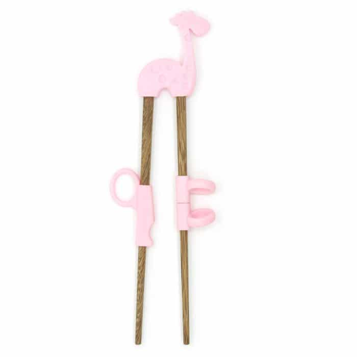 silicone-kids-pink-elephant-training-chopsticks-w-wooden-chopsticks-1
