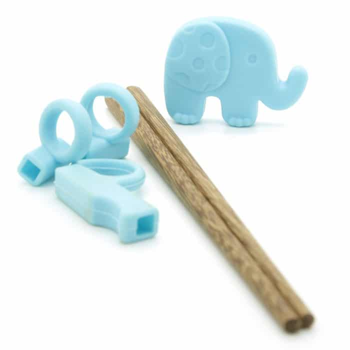 silicone-kids-blue-elephant-training-chopsticks-w-wooden-chopsticks-4
